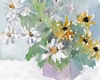 Daisies & Black Eyed Susans I Fine Art Print