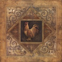 """Classic Rooster II by Richard Lane - 12"""" x 12"""""""