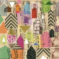 Stamped Houses I Fine Art Print