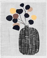 Decorated Vase with Plant III Fine Art Print