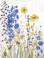 Periwinkle Wildflowers I Fine Art Print