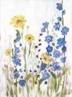 Periwinkle Wildflowers II Fine Art Print