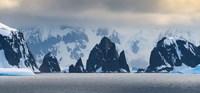 Antarctic Peninsula, Antarctica, Spert Island Craggy Rocks And Mountains Fine Art Print