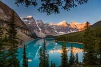 Alberta, Banff National Park, Moraine Lake At Sunrise Fine Art Print