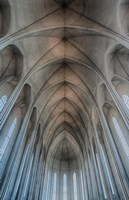 Iceland, Reykjavik, Ribbed Vaults In The Modern Cathedral Of Hallgrimskirkja Fine Art Print