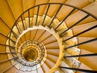 Italy, Lazio, Tivoli, Villa d'Este Spiral Staircase Fine Art Print