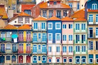 Europe, Portugal, Porto Colorful Building Facades Next To Douro River Fine Art Print