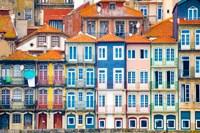 Europe, Portugal, Porto Colorful Building Facades Next To Douro River Fine Art Print