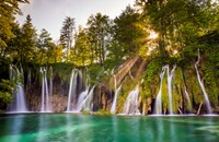 Europe, Croatia, Plitvice Lakes National Park Waterfall Landscape Fine Art Print