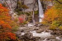 Argentina, Patagonia Waterfall Fine Art Print