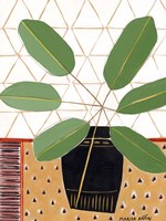 Gold Tablecloth 4 Fine Art Print