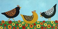 Hens and Poppies Fine Art Print