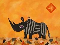Rhino with Summer Sky Fine Art Print