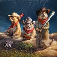 Amarillo Sod Poodles Fine Art Print