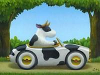 Cow Car Fine Art Print