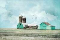 Aqua Barns Fine Art Print