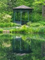 Delaware, Gazebo Overlooking A Pond Fine Art Print