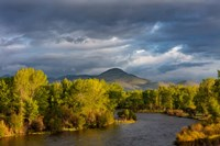 Dramatic Stormy Sunrise Light Strikes The Big Hole River Near Melrose, Montana Fine Art Print