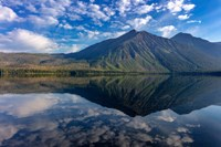 Stanton Mountain Over A Calm Lake Mcdonald In Glacier National Park, Montana Fine Art Print