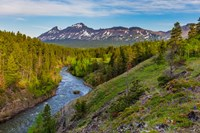 The South Fork Of The Two Medicine River In The Lewis And Clark National Forest, Montana Fine Art Print