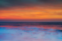 New Jersey, Cape May, Sunset On Ocean Shore Fine Art Print
