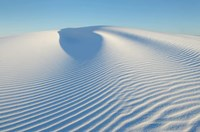 Ripple Patterns In Gypsum Sand Dunes, White Sands National Monument, New Mexico Fine Art Print