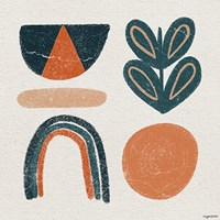 Retro Orange Teal Fine Art Print