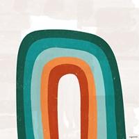Teal Orange Rainbow Fine Art Print