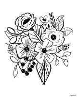 Flower Sketch Fine Art Print