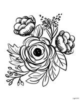 Flower Sketch II Fine Art Print
