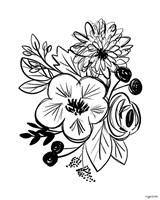 Flower Sketch III Fine Art Print