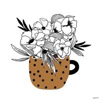 Mustard Flower Mug Fine Art Print