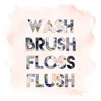 Wash, Brush, Floss, Flush Fine Art Print
