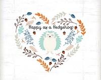 Happy as a Hedgehog Fine Art Print