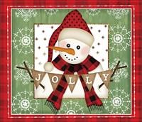 Jolly Snowman Fine Art Print