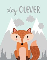 Stay Clever Fox Fine Art Print