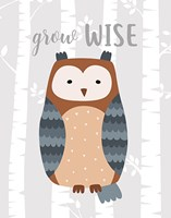 Grow Wise Owl Fine Art Print
