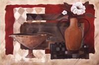 "Crimson Pottery I by Carol Robinson - 36"" x 24"""