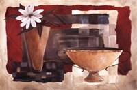 "Crimson Pottery II by Carol Robinson - 36"" x 24"""