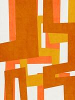 Sunburst Tapestry Framed Print