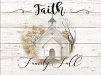 Faith, Family, Fall Fine Art Print