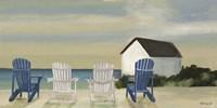 Beach Chairs Panorama Fine Art Print