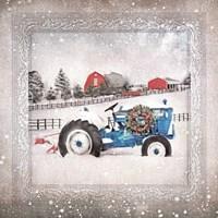 Christmas Tractor Fine Art Print