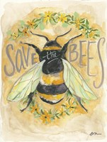 Save the Bees Fine Art Print