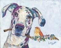 Dane & Songbird Fine Art Print