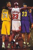 Kobe, Jordan, LeBron Fine Art Print