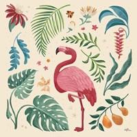 Jungle Love VI Cream Framed Print