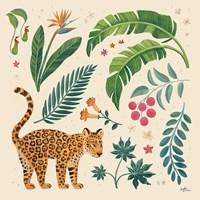 Jungle Love IV Cream Framed Print