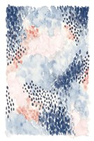 Spring Blooms I Blue Framed Print