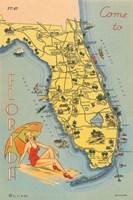 Florida Postcard VI Fine Art Print